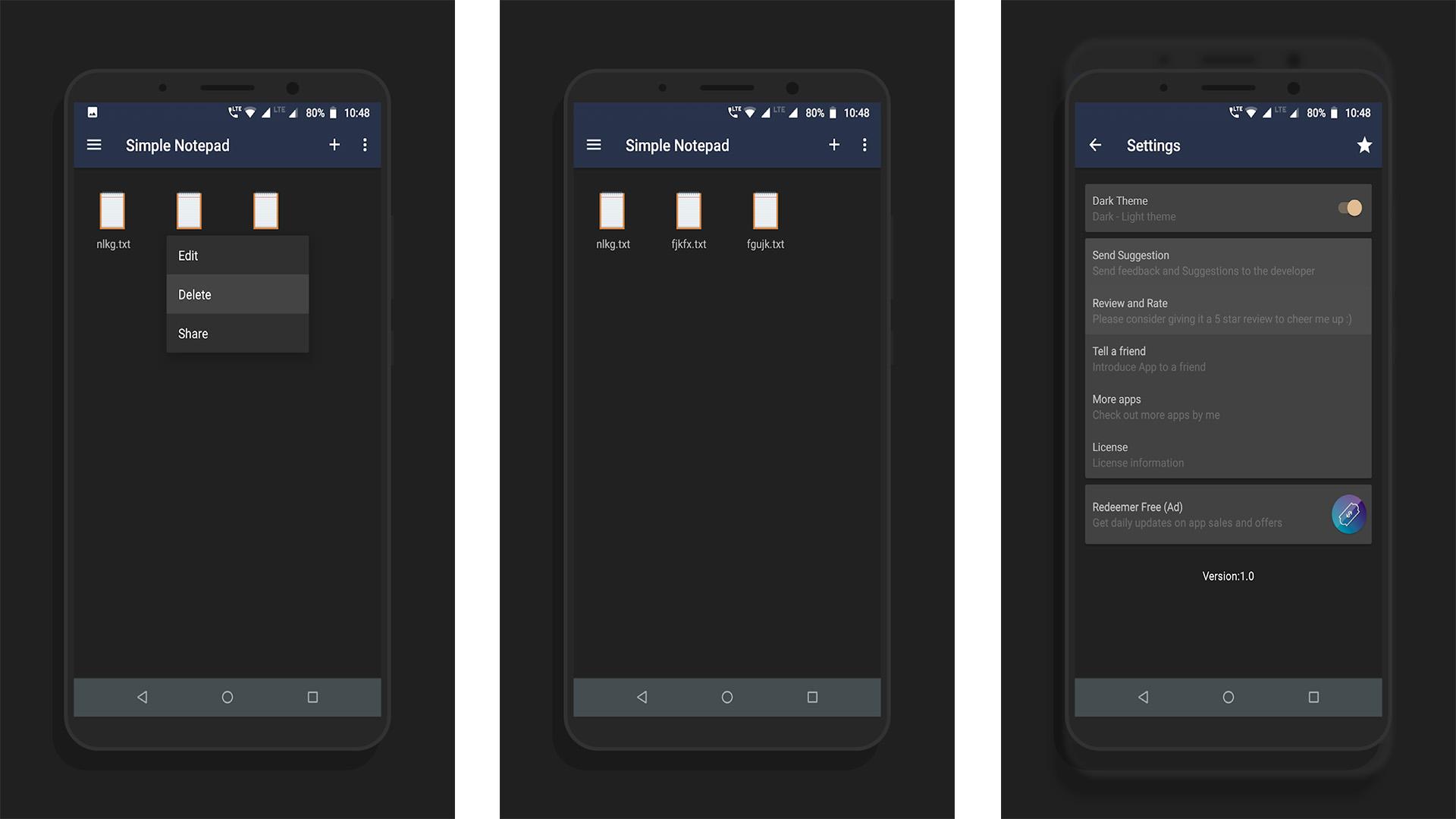 Simple Notepad screenshot