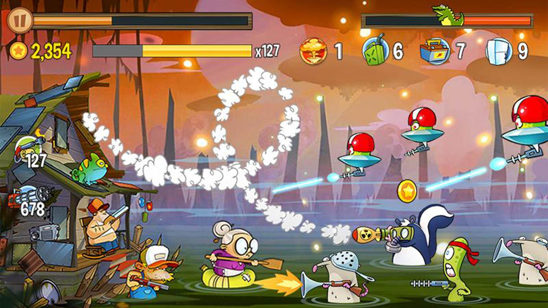 Swamp Attack screenshot 2021