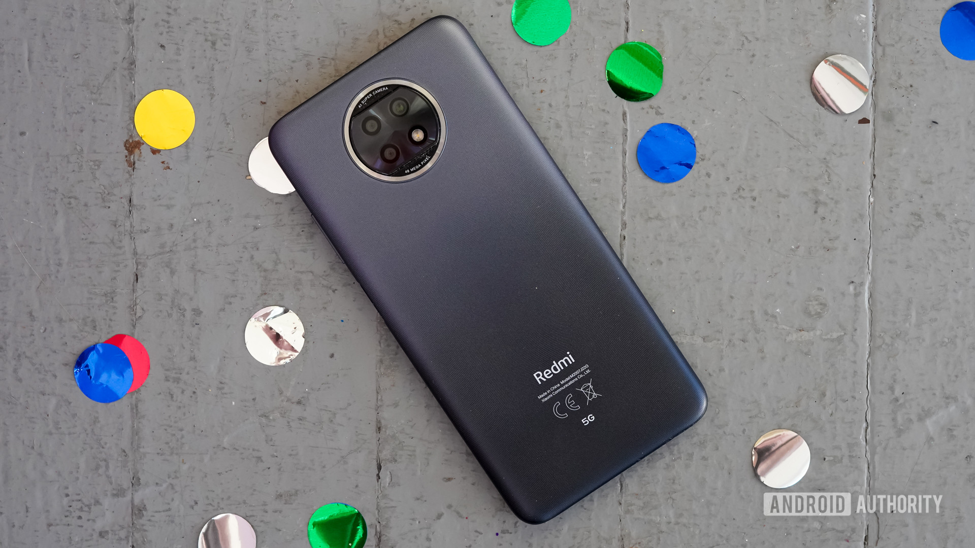 Xiaomi Redmi Note 9T rear with dots