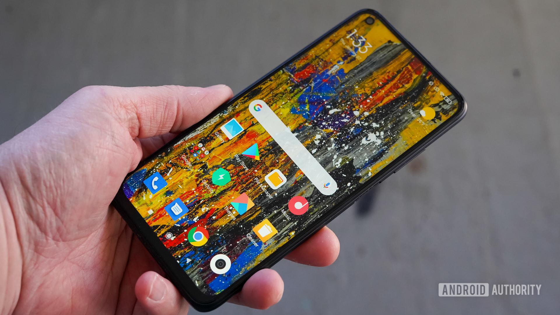 Xiaomi Redmi Note 9T right front profile