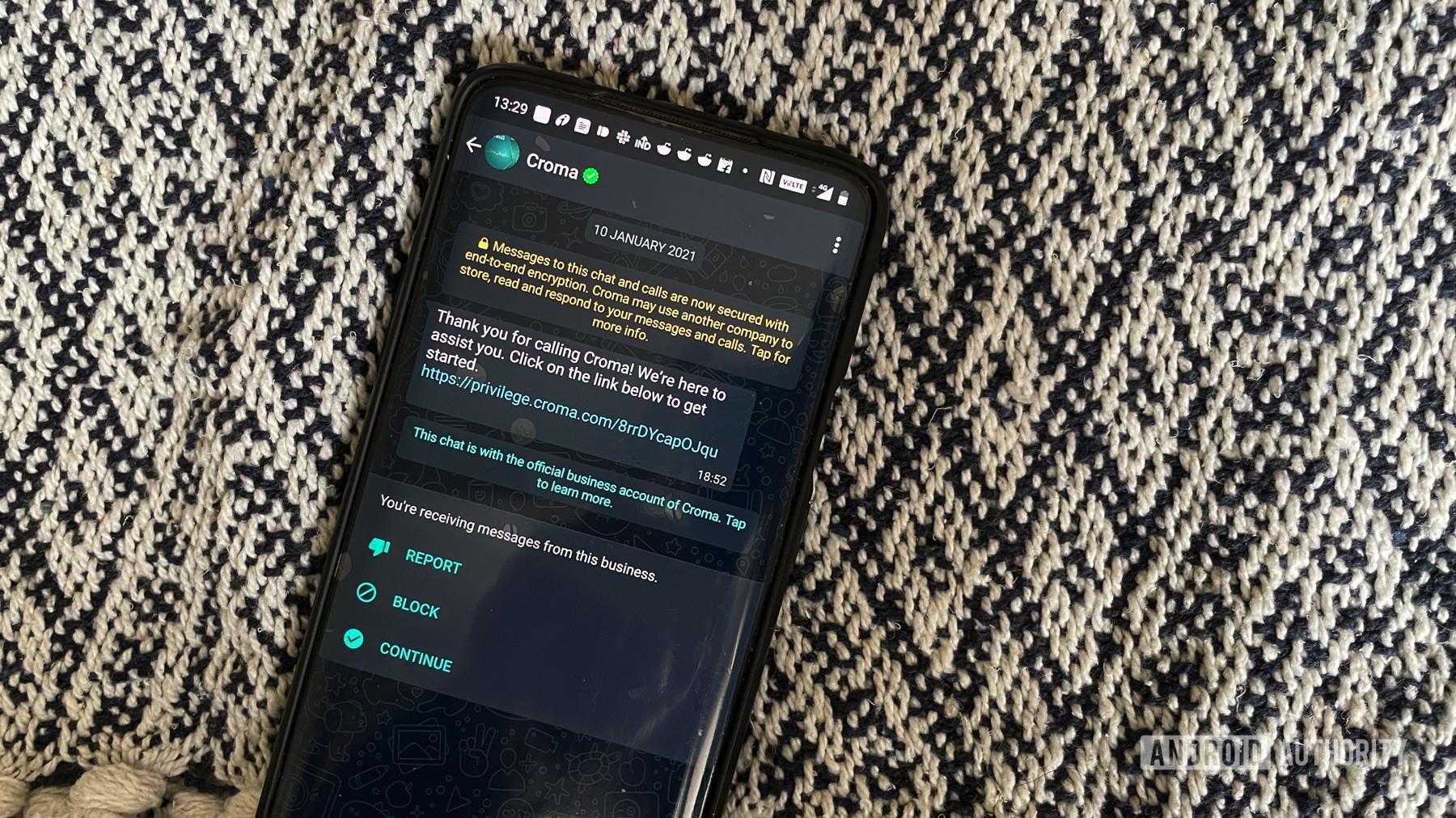whatsapp business communication