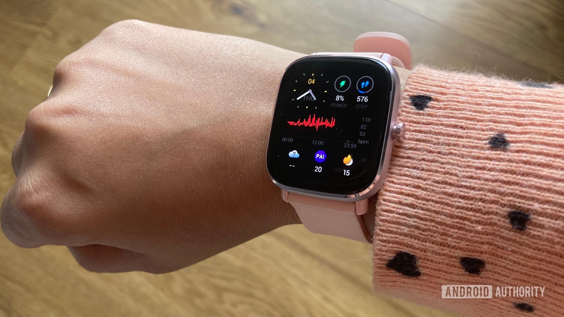 Amazfit GTS 2 Mini Review Image Showing watch On Wrist