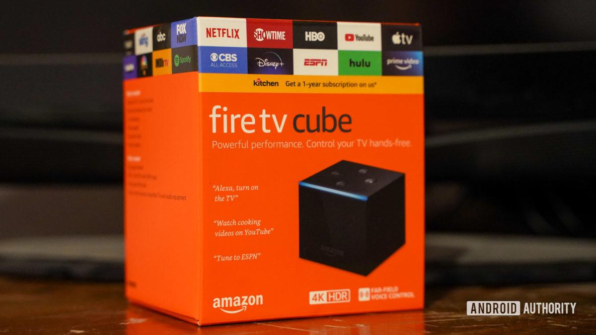 Amazon Fire TV Cube in box