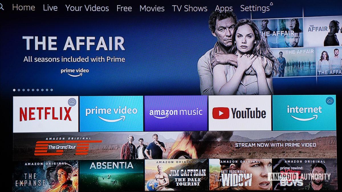 Amazon Fire TV Cube menü sistemi