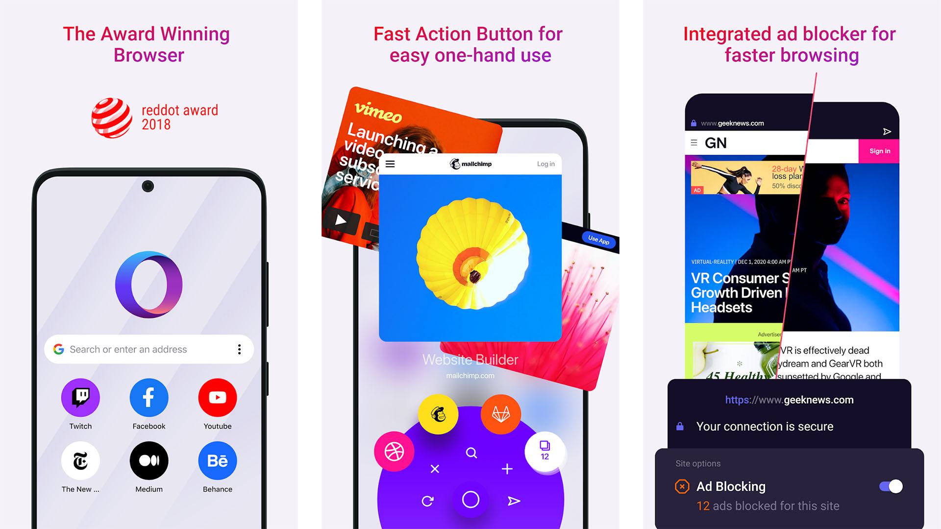 Opera Browser screenshot 2021