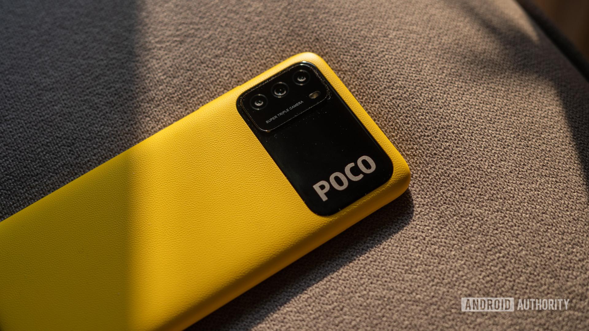 Poco M3 close up on camera