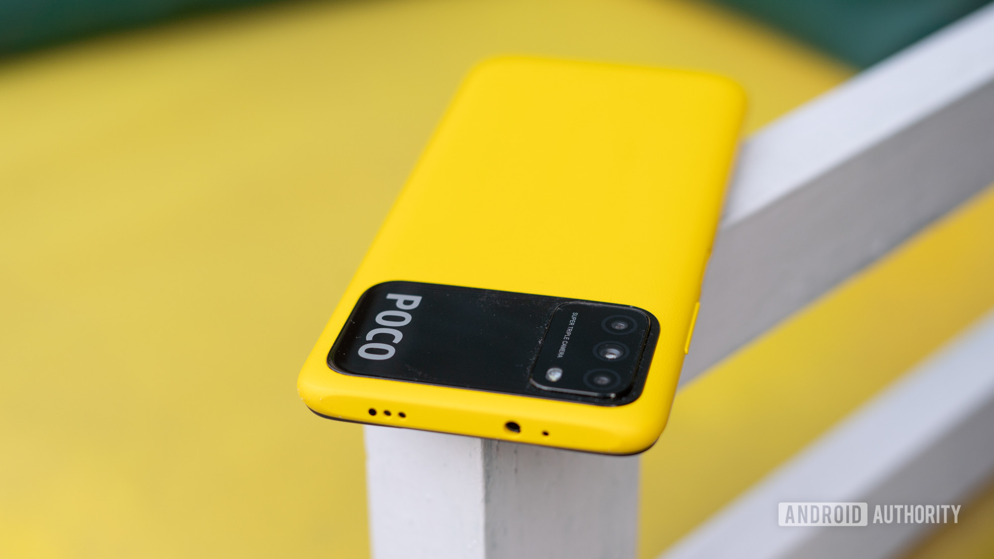 Poco M3 top section with headphone jack