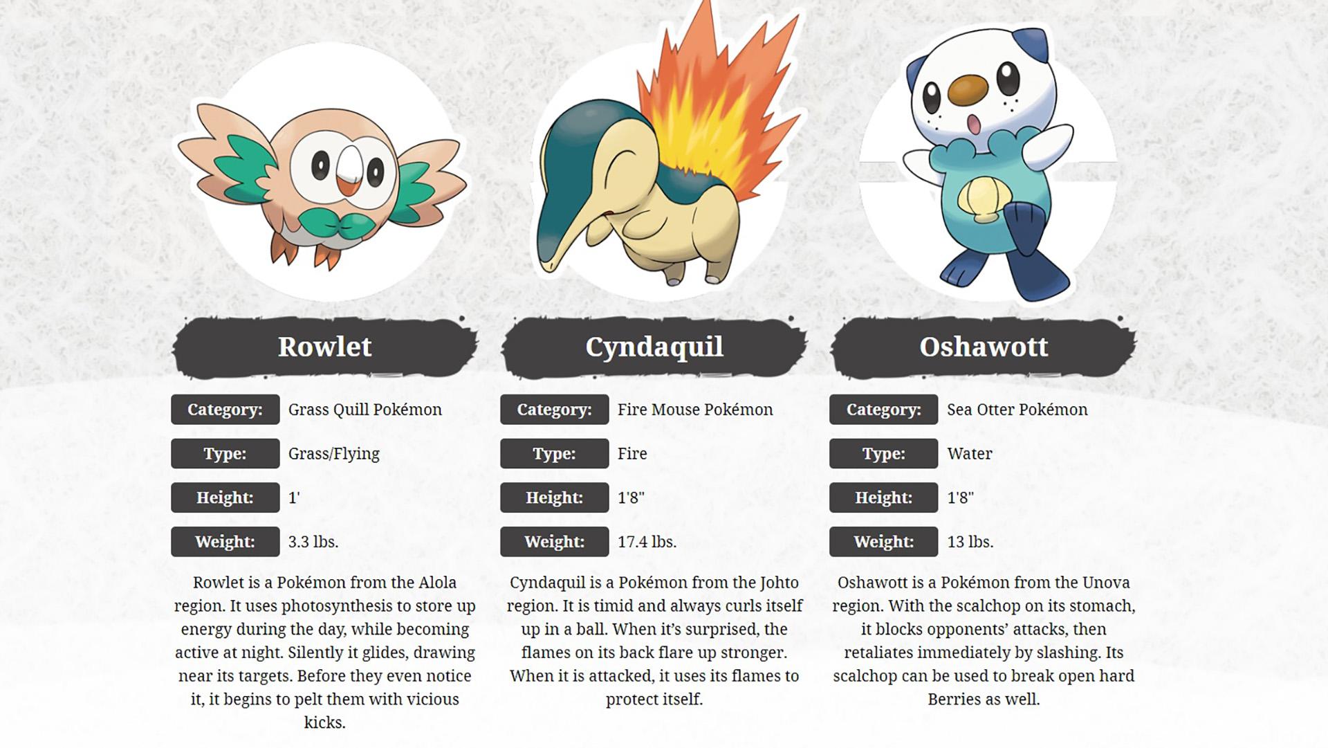 Pokemon Legends Arceus Starter Pokemon