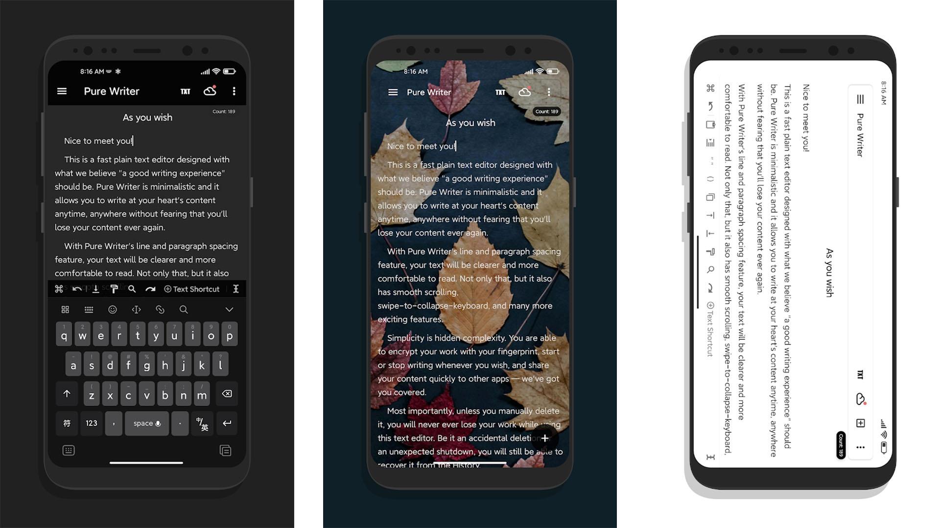Pure Writer screenshot 2021