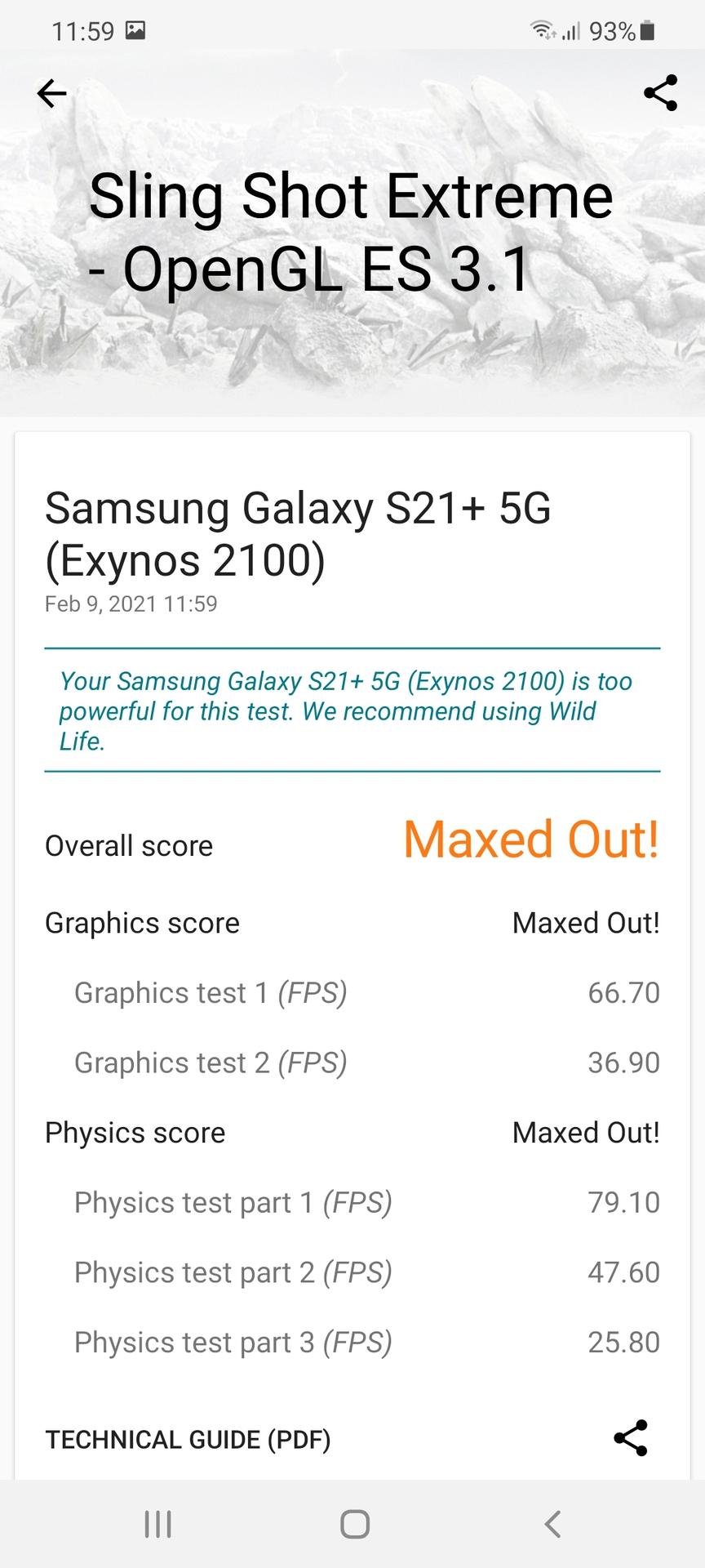 Samsung Galaxy S21 Plus 3DMark 1 Exynos 2100