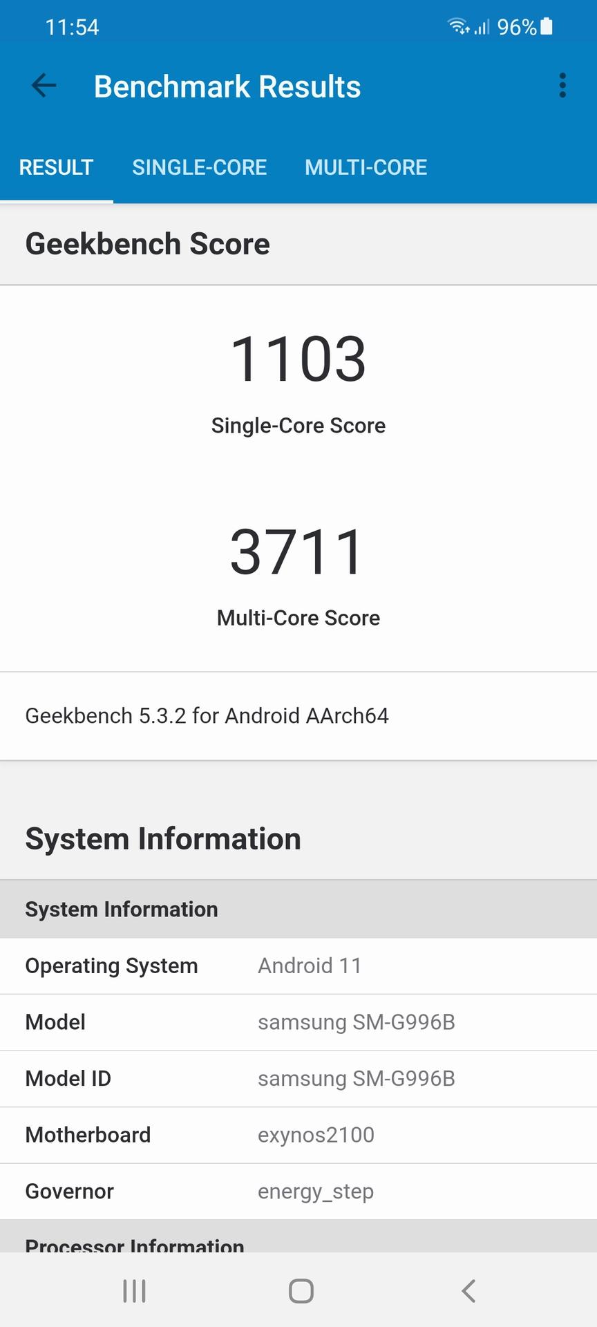 Samsung Galaxy S21 Plus Geekbench 5 Exynos 2100