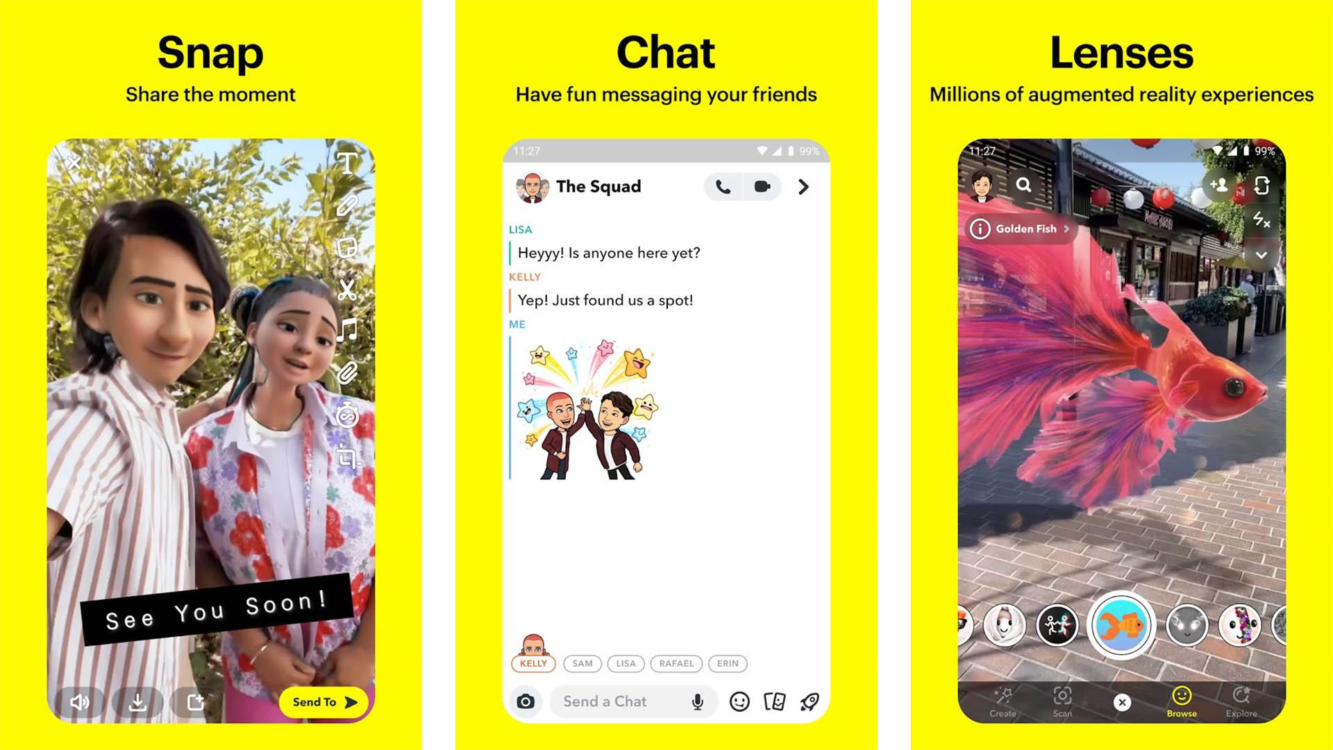 Snapchat screenshot 2021