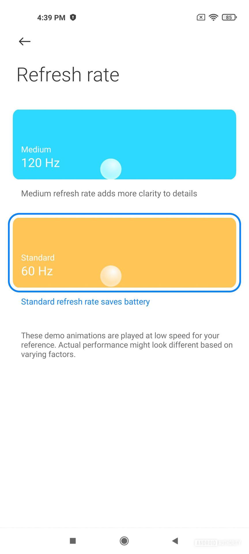 Xiaomi Mi 11 MIUI 12 частота обновления