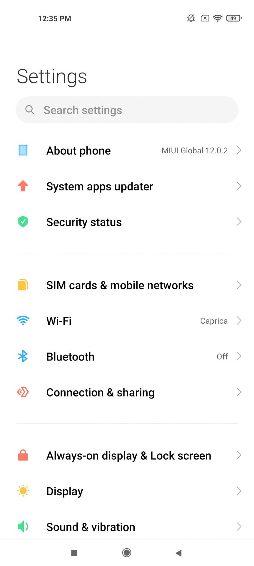 Xiaomi Mi 11 MIUI 12 настройки
