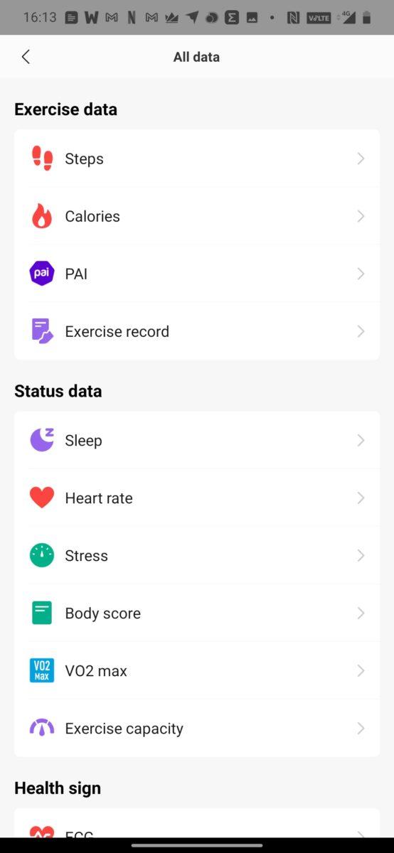 amazfit zepp data collection