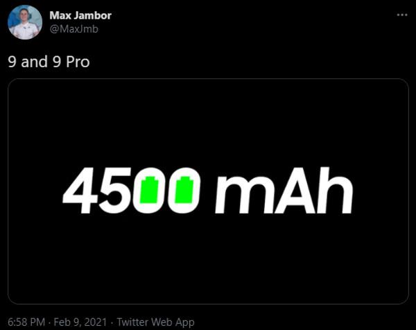 oneplus 9 series battery max jambor