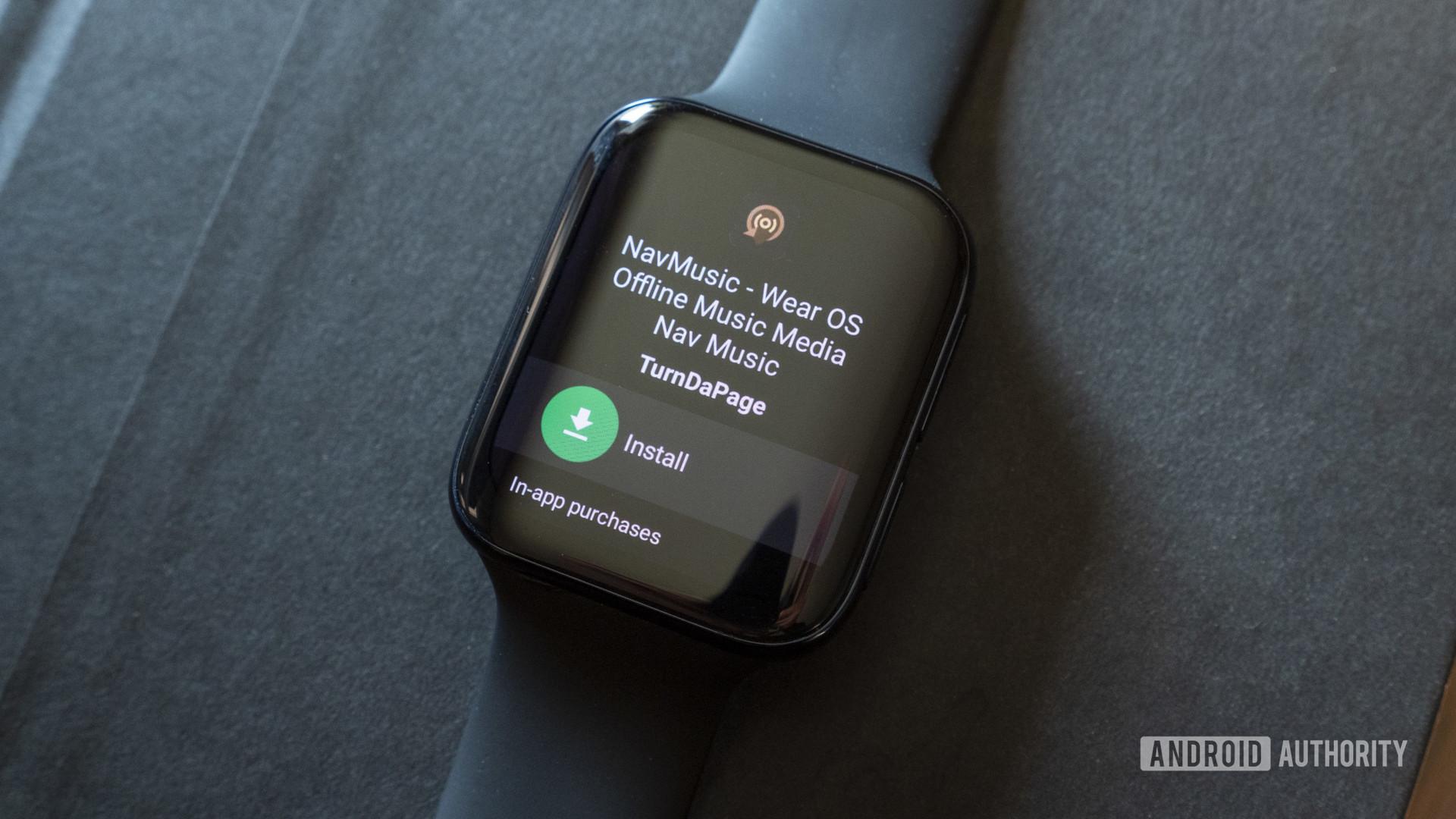 oppo watch wear os smartwatch navmusic music player