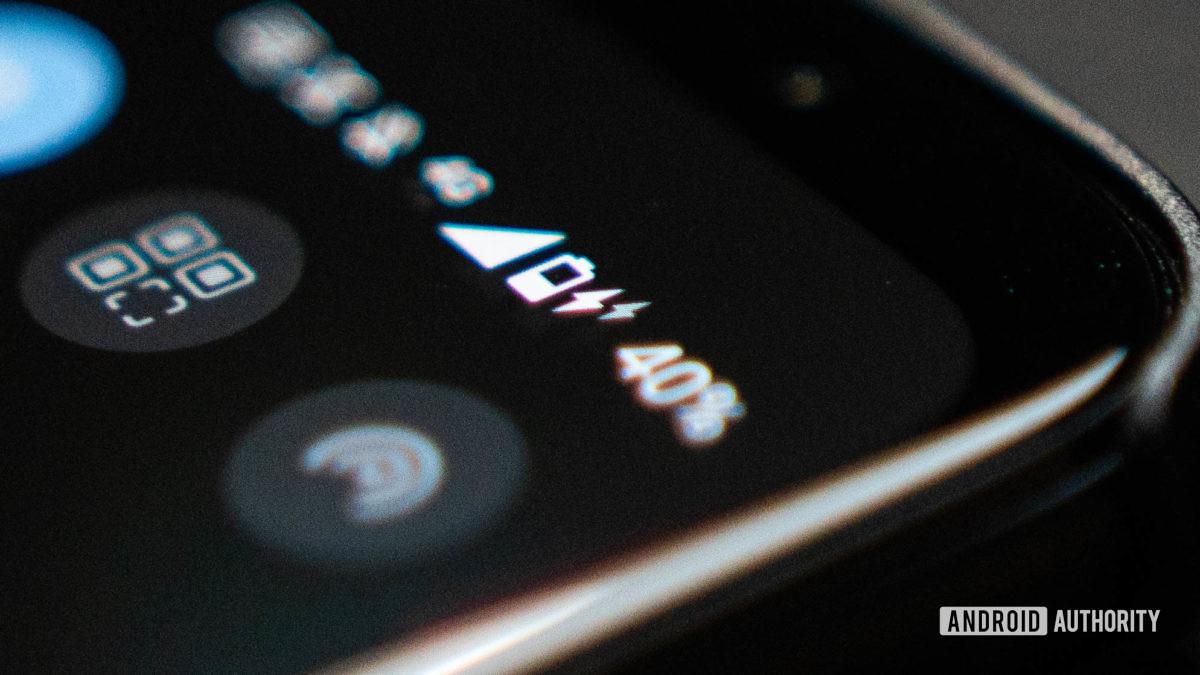 Asus ROG Phone 5 product shot of the battery and charging logos up close