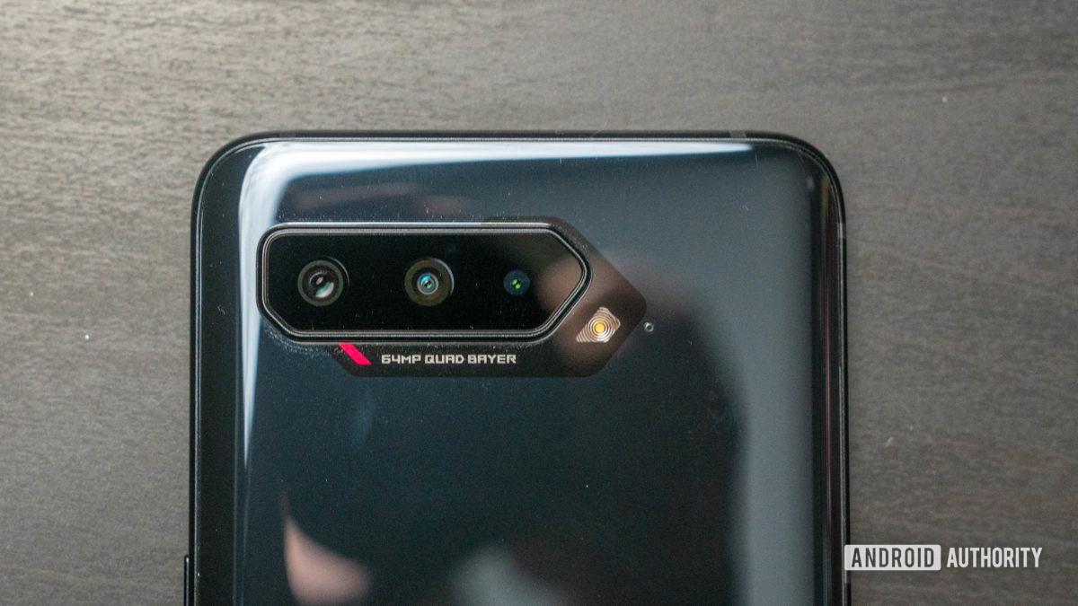 Asus ROG Phone 5 product shot of the camera bump close up