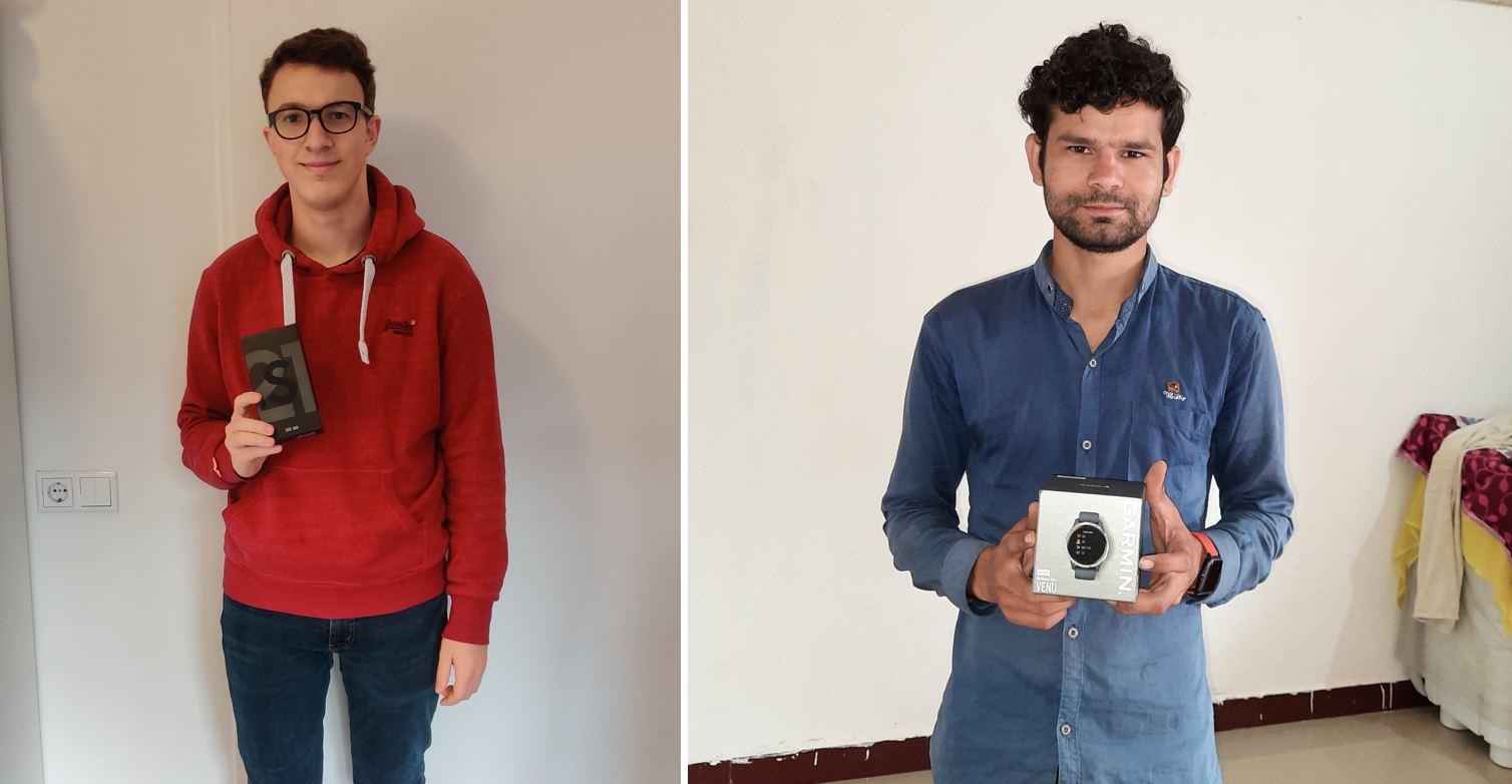Ganadores del premio Bram N Akash P