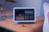 Google Nest Hub second generation smart display on bedside