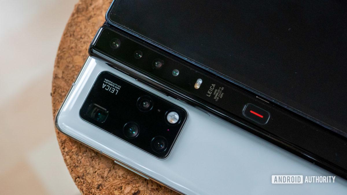 Huawei Mate X2 vs Huawei Mate Xs camera closeup 1
