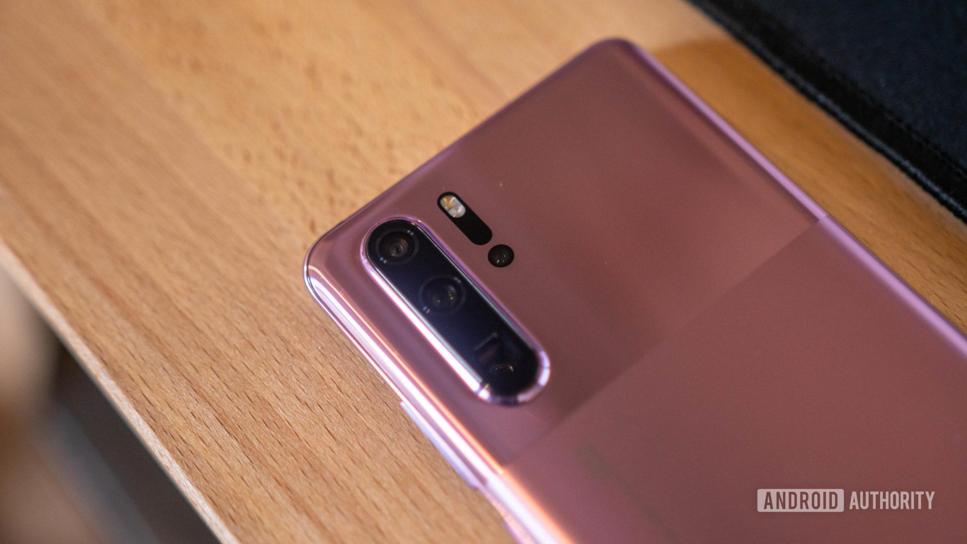 Huawei P30 Pro rear camera modue close up