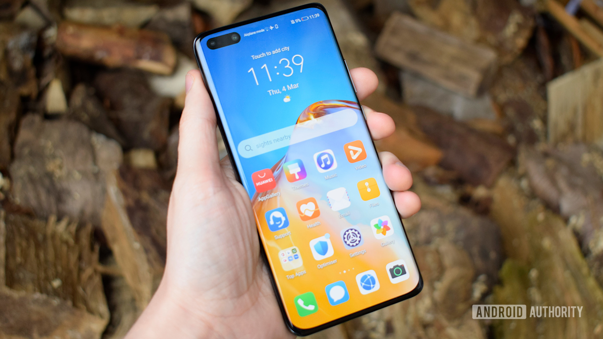 Huawei P40 Pro homescreen