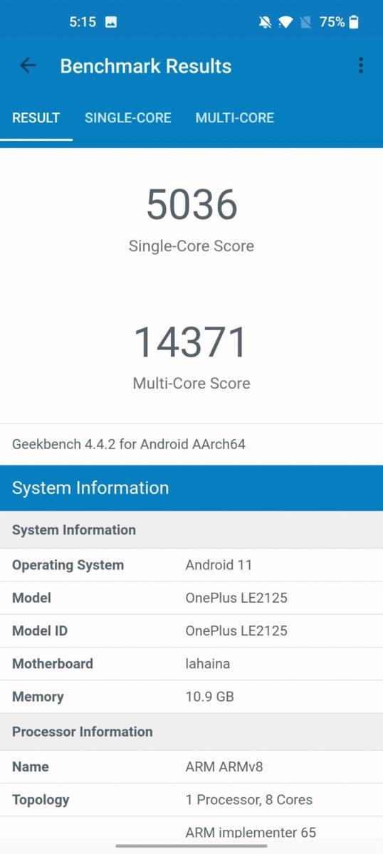 OnePlus 9 Pro GeekBench 4