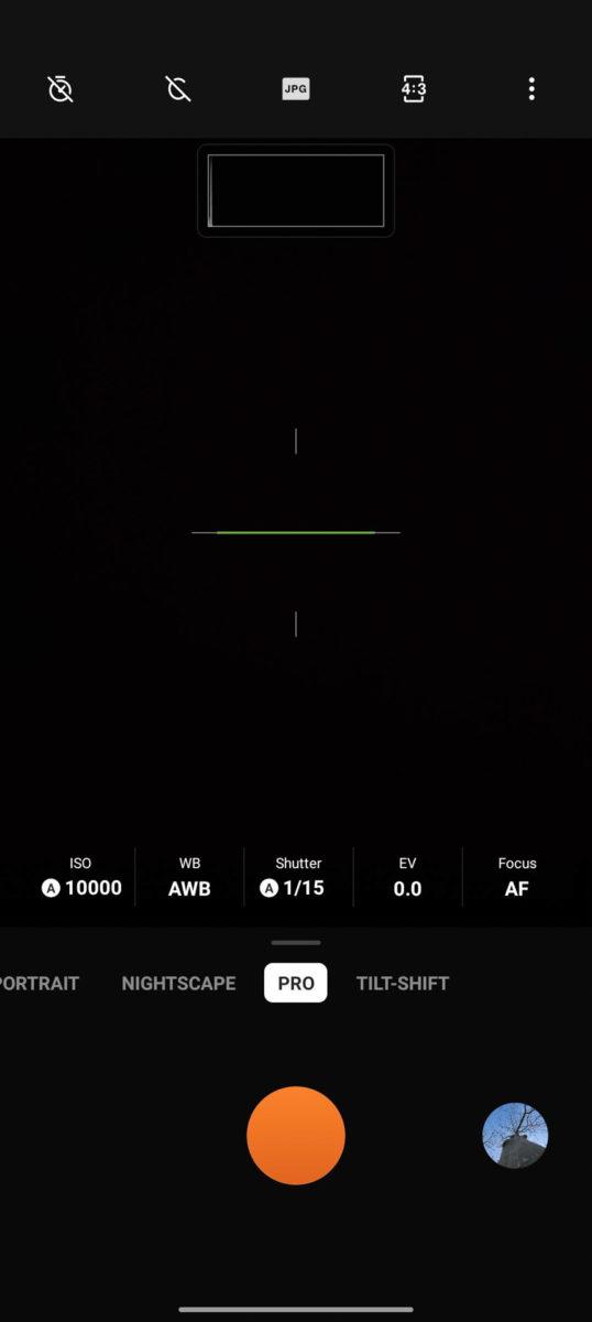 OnePlus 9 Pro camera app PRO MODE