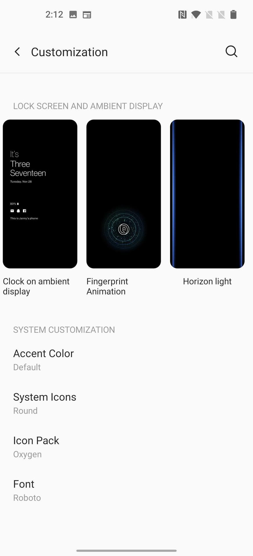 Oxygen OS Lock Screen Customizations