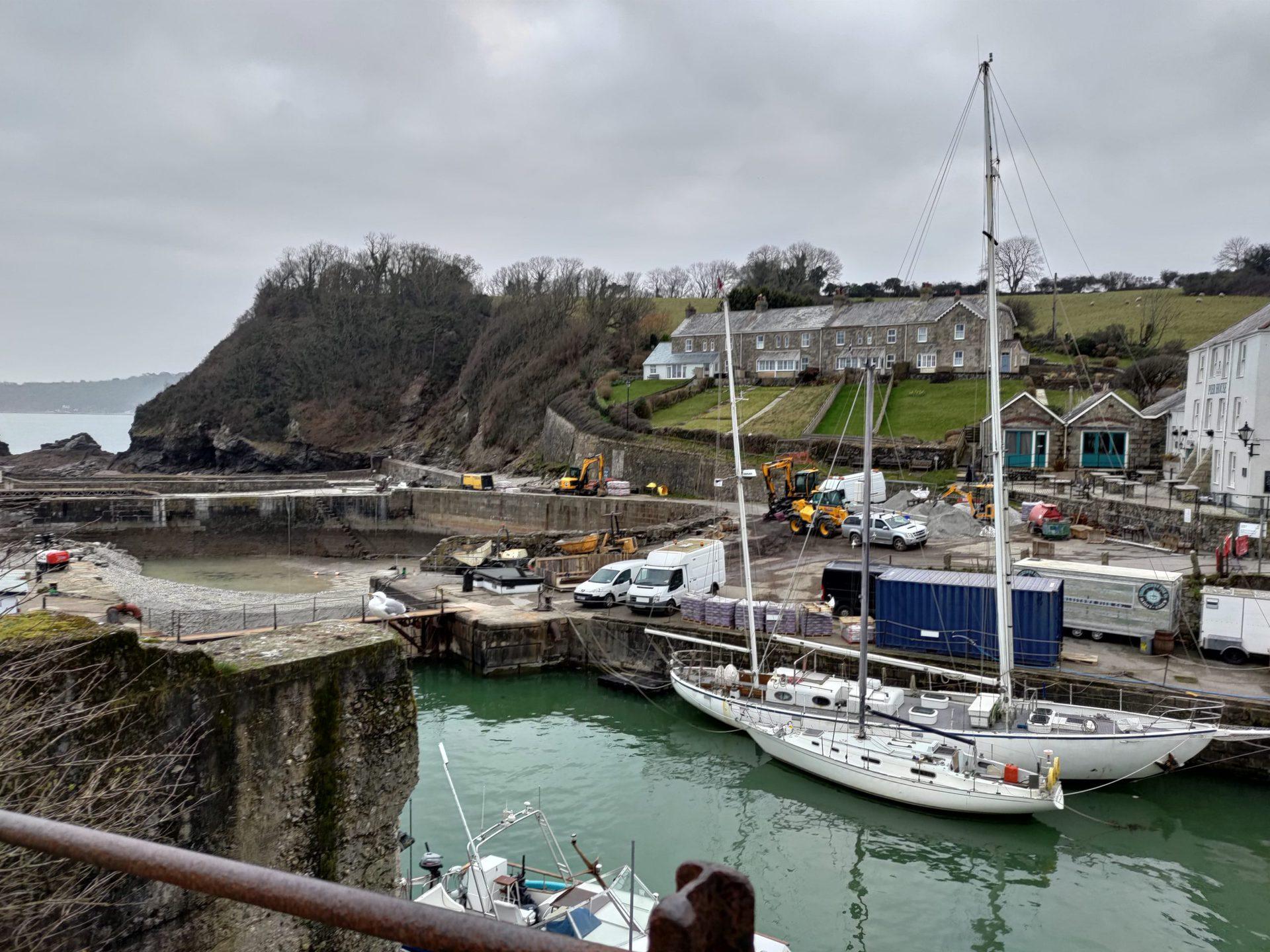 ROG Phone 5 camera sample of a harbour under repair