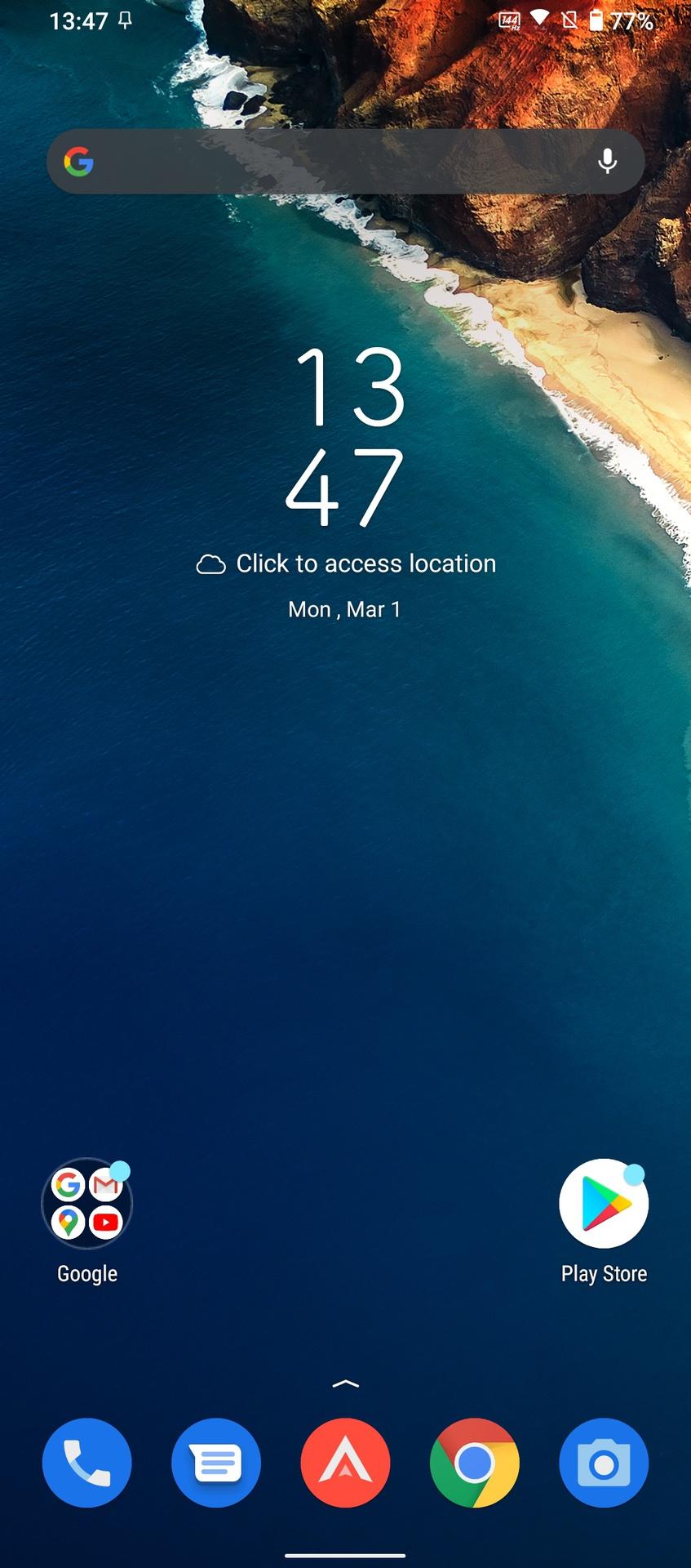 ROG Phone 5 screenshot of the default home screen