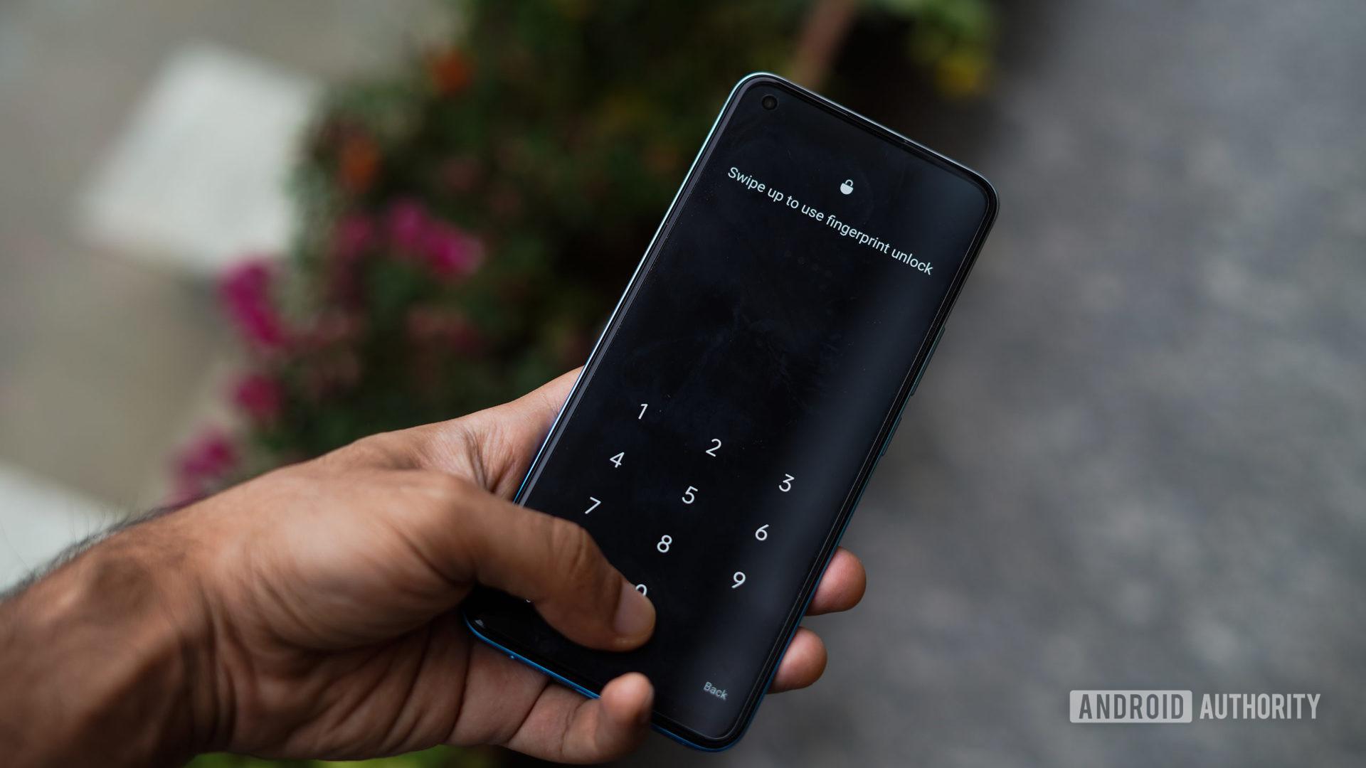 Realme 8 Pro fingerprint scanner