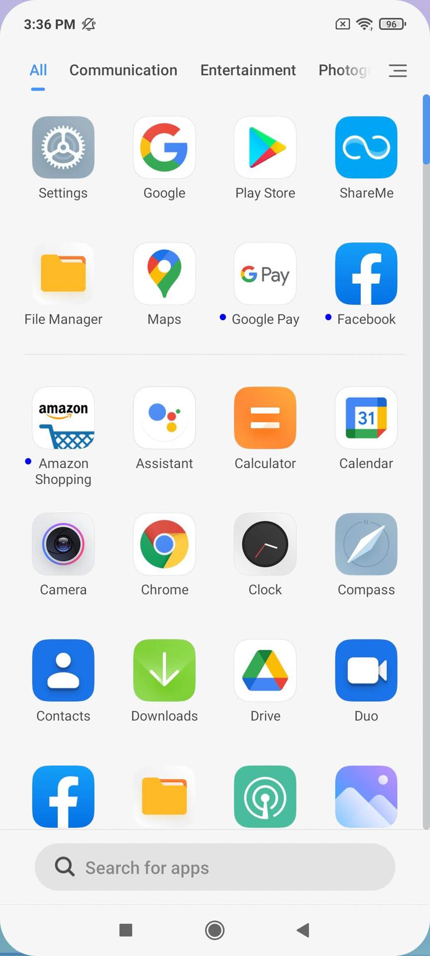 Redmi Note 10 Pro MIUI 12 app drawer