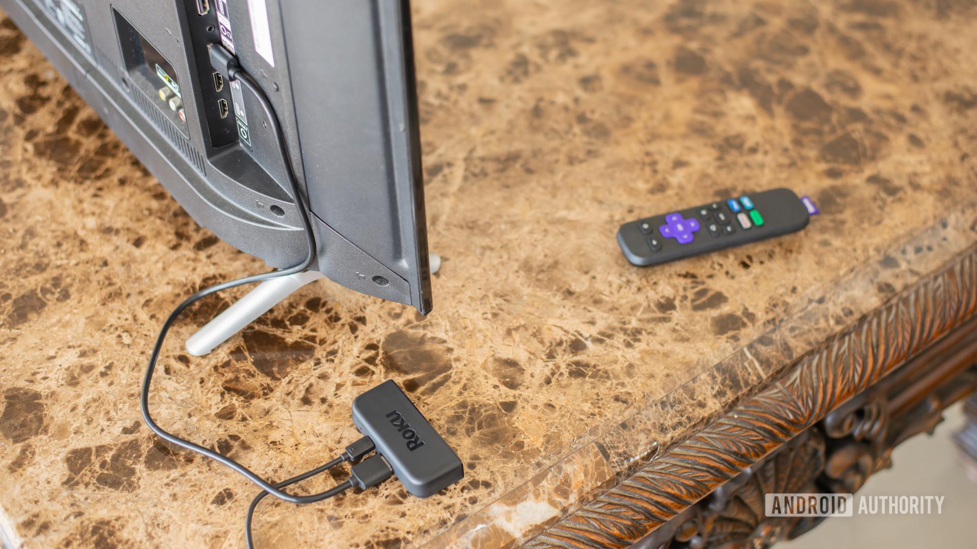 Roku Premiere plugged into TV 1
