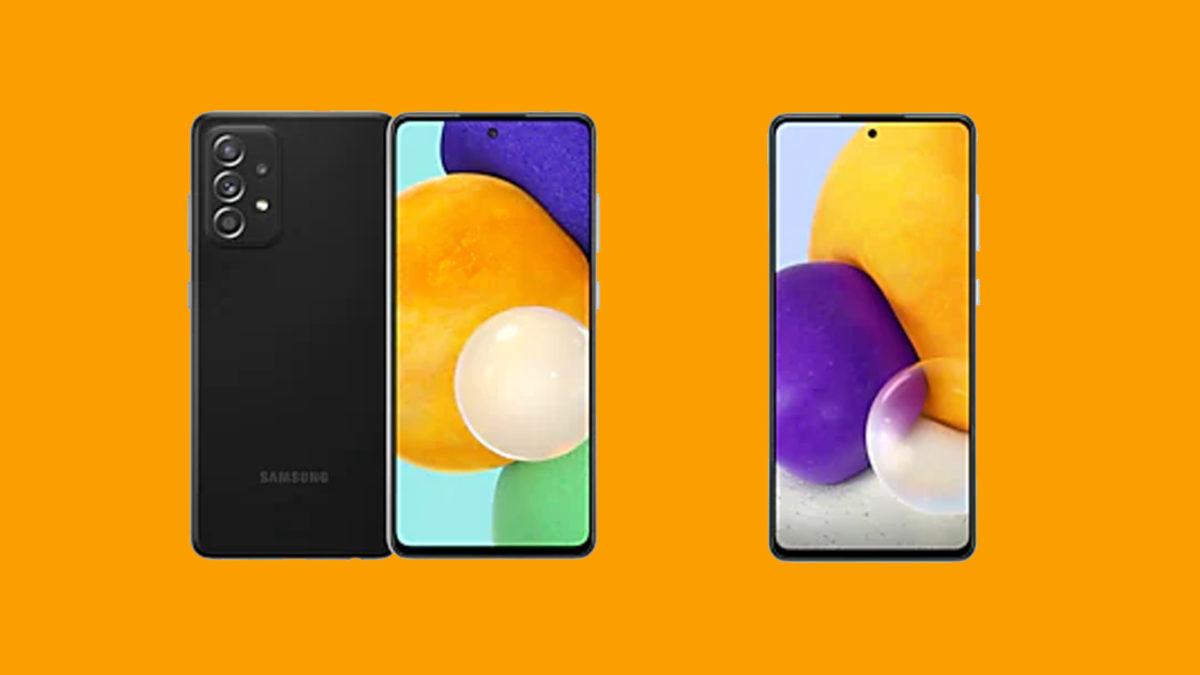 Samsung Galaxy A52 and A72 Press Header