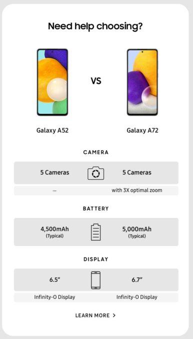 Samsung Galaxy A72 52 marketing material leak 5