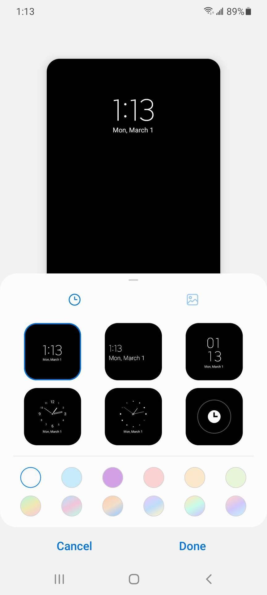 Samsung One UI 3.0 AOD Customizations