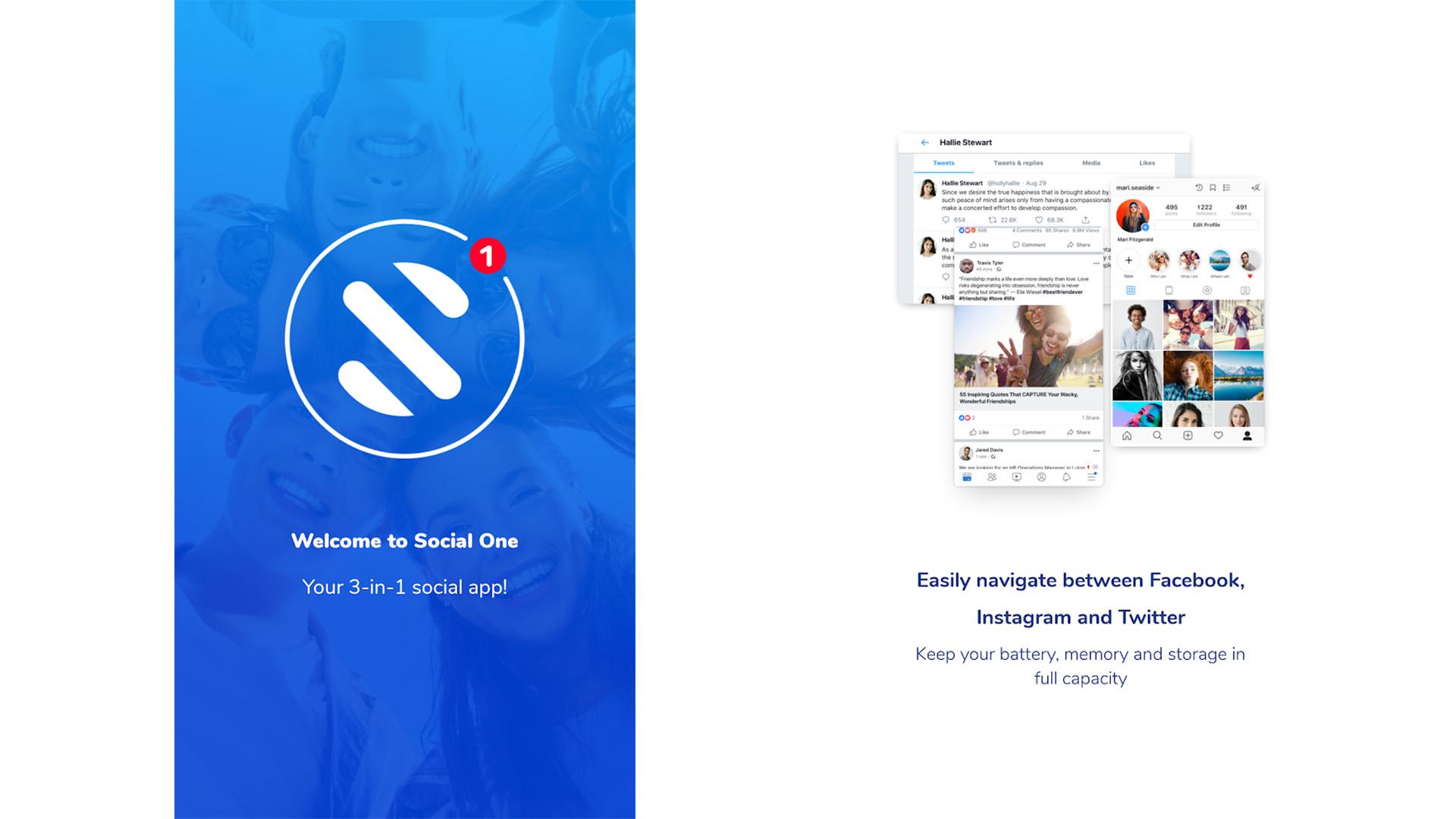 Social One screenshot 2021