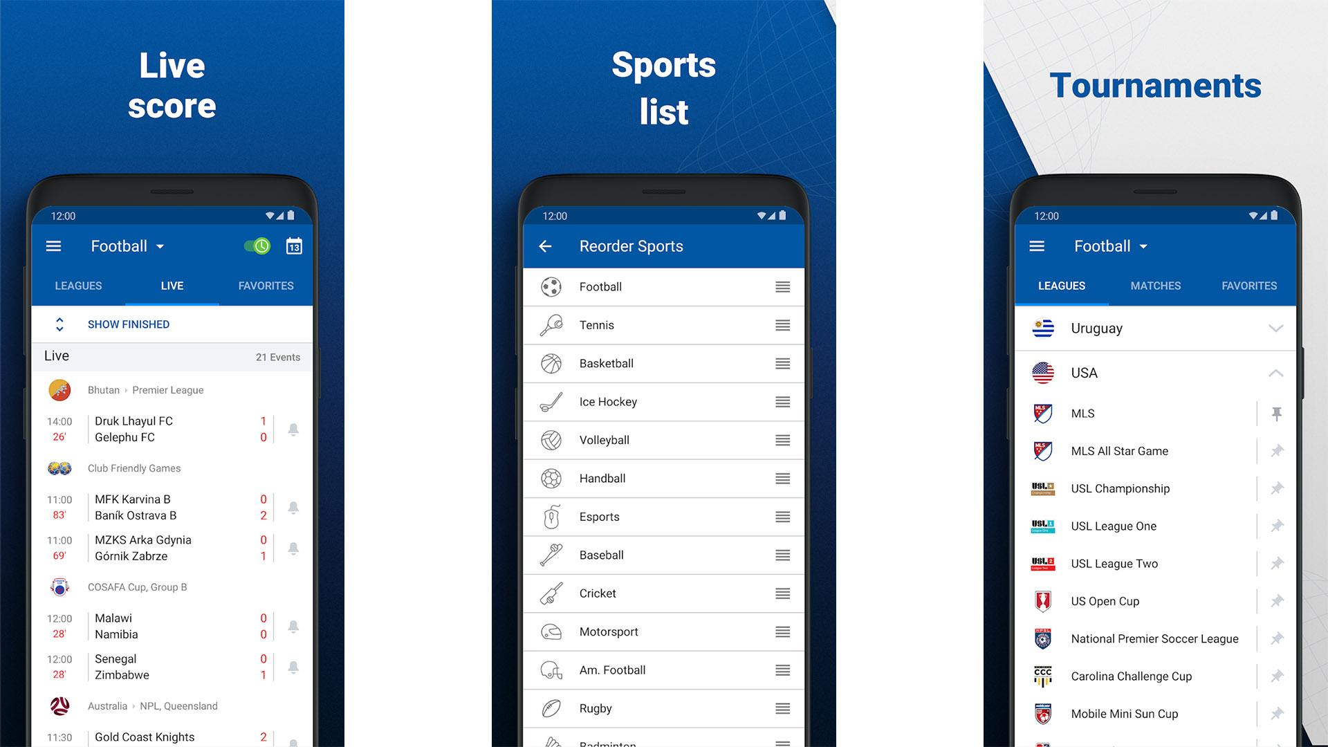 SofaScore screenshot 2021