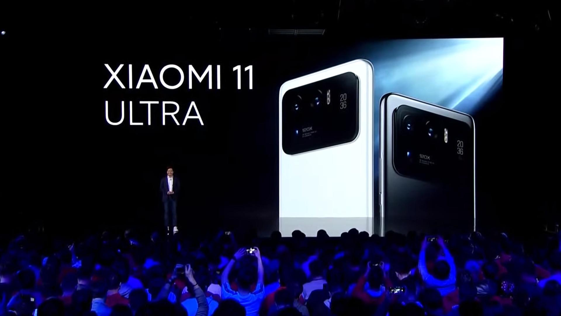 Xiaomi Mi 11 Ultra back event