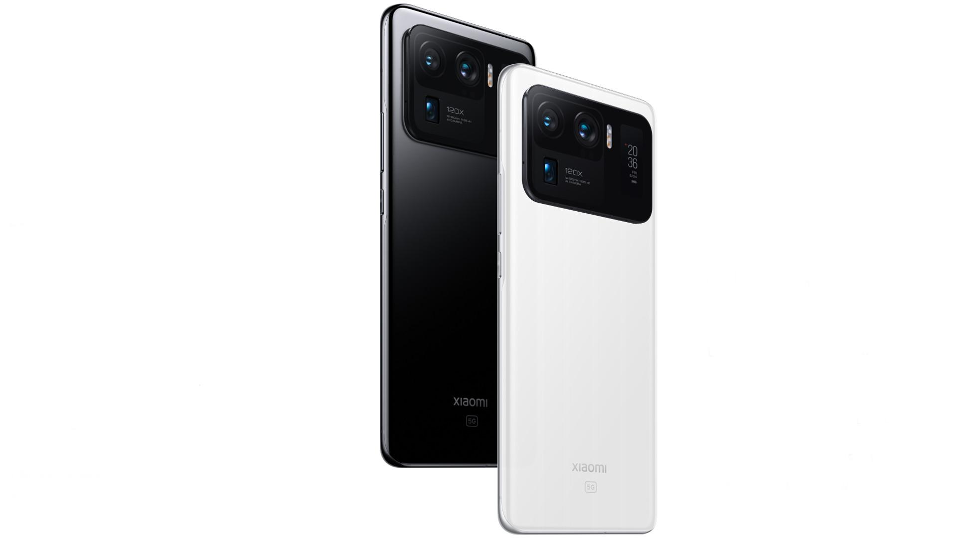 Xiaomi Mi 11 Ultra rear black and white
