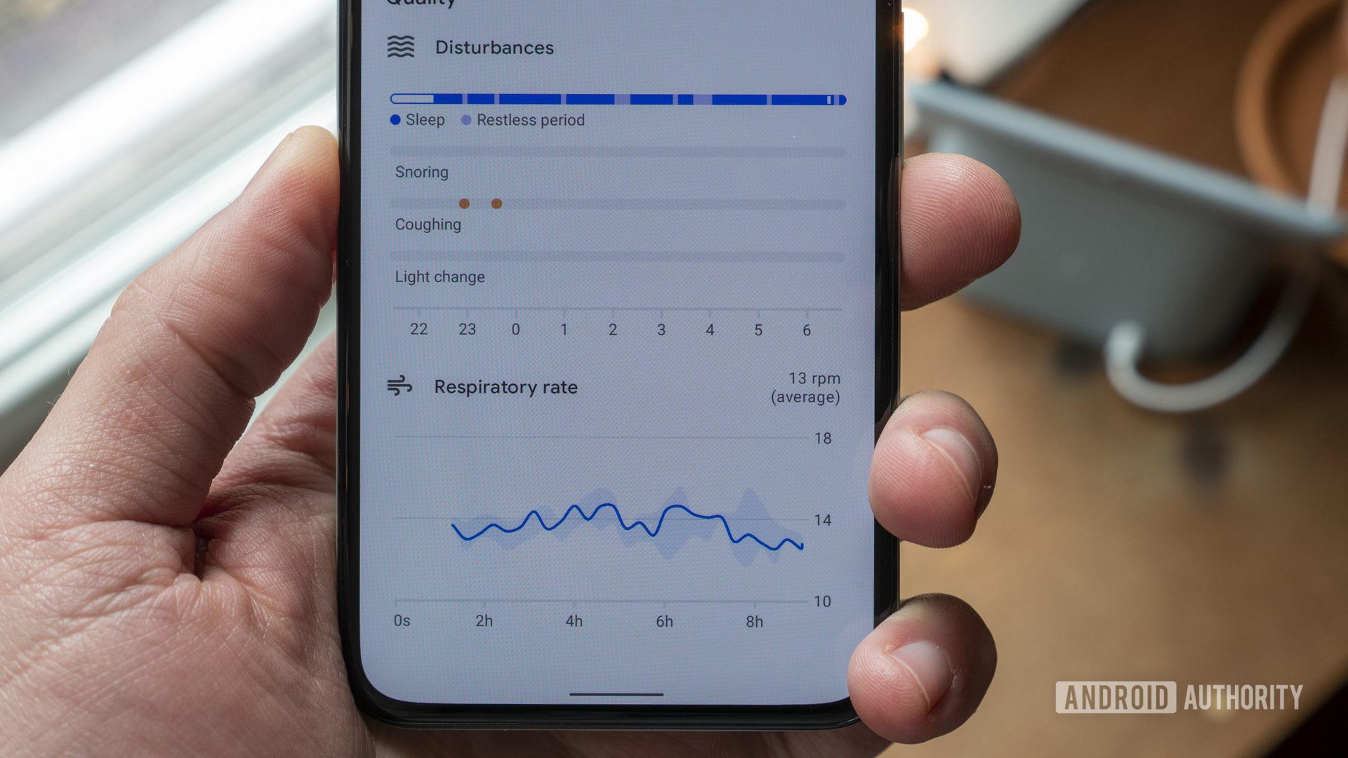 google nest hub second generation review google fit sleep sensing disturbances respiratory rate