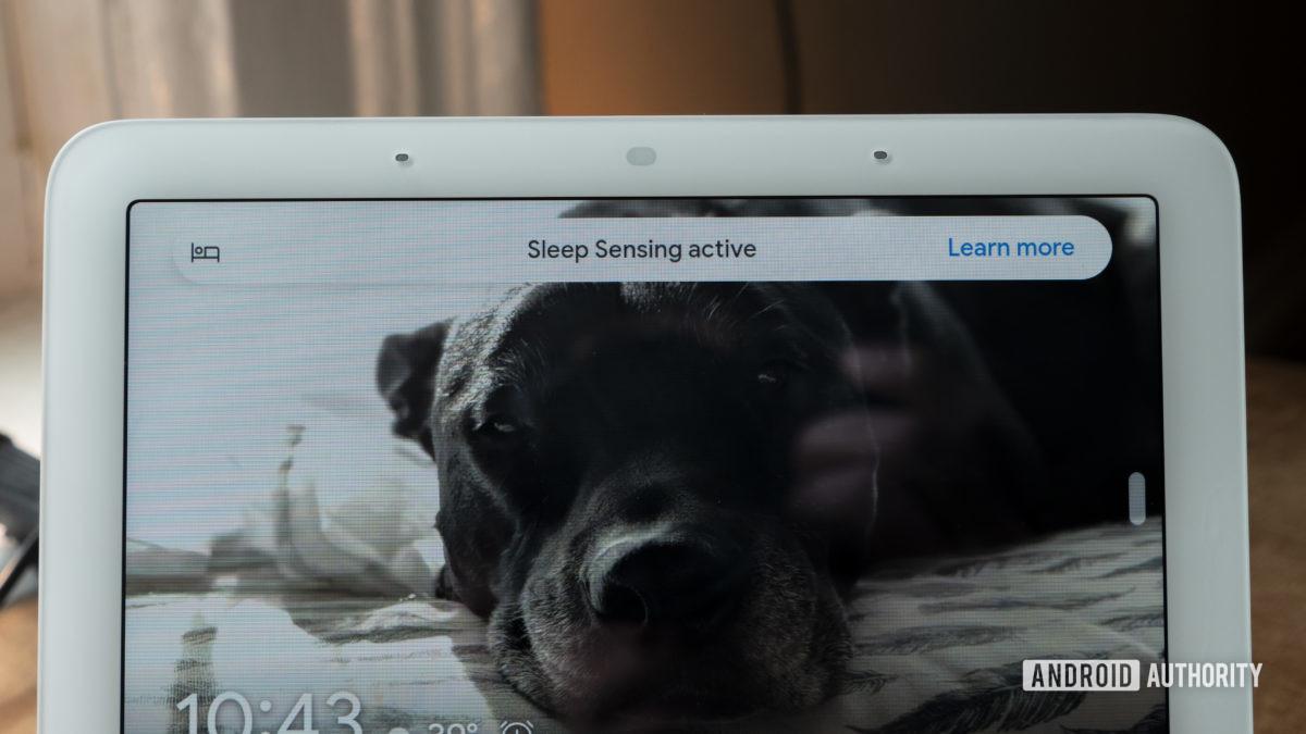 google nest hub second generation review sleep sensing active message