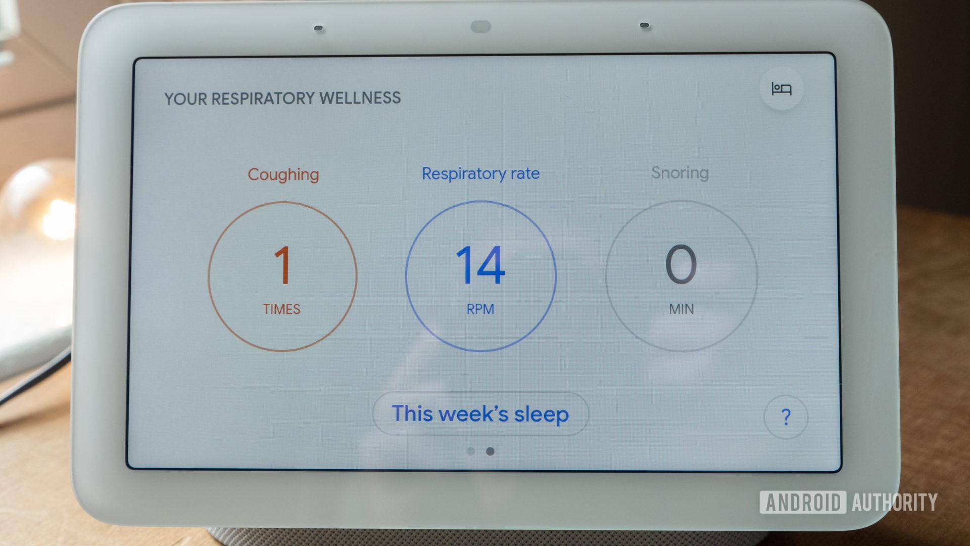 google nest hub second generation review sleep sensing respiratory wellness 2