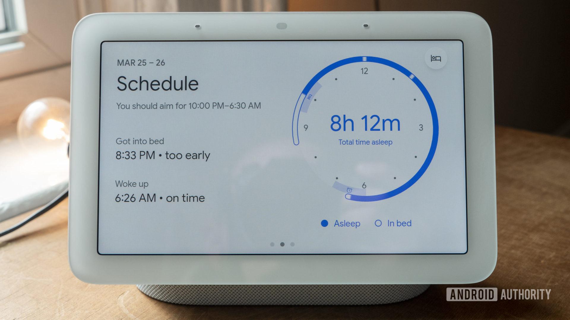 google nest hub second generation review sleep sensing schedule