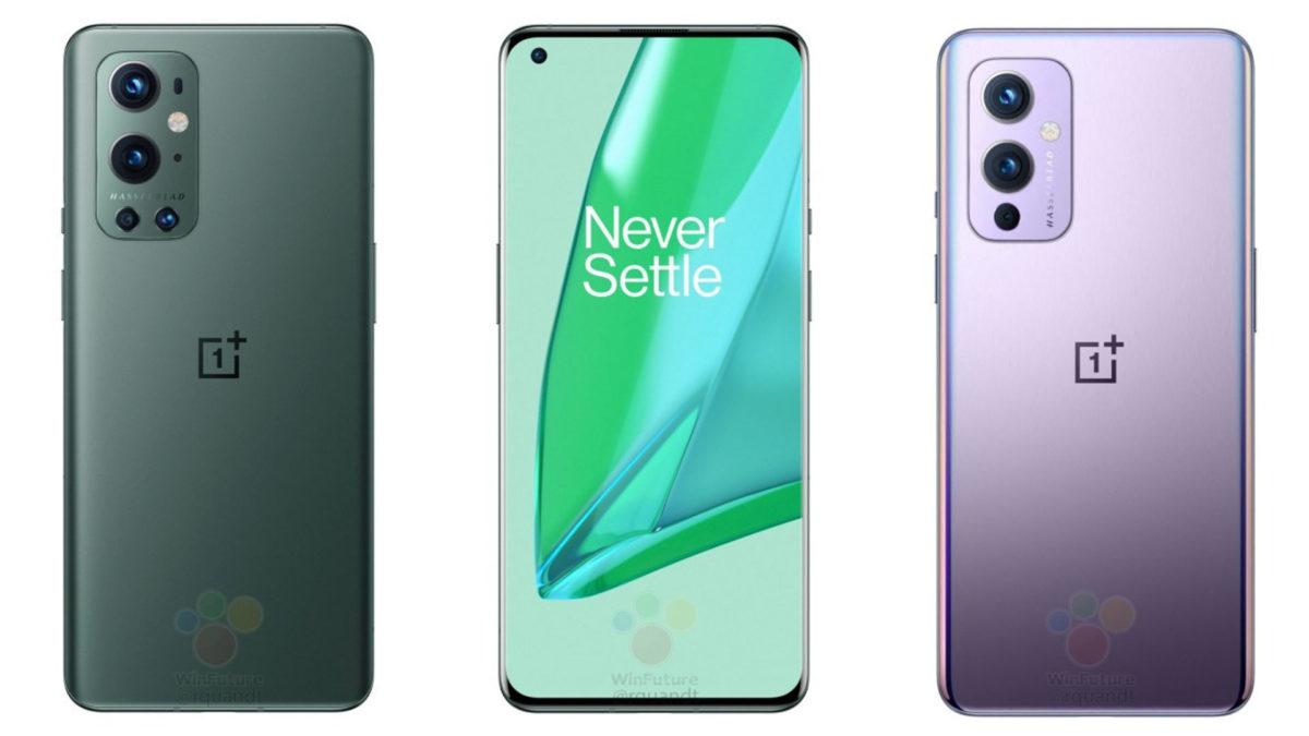 oneplus 9 pro green purple colors