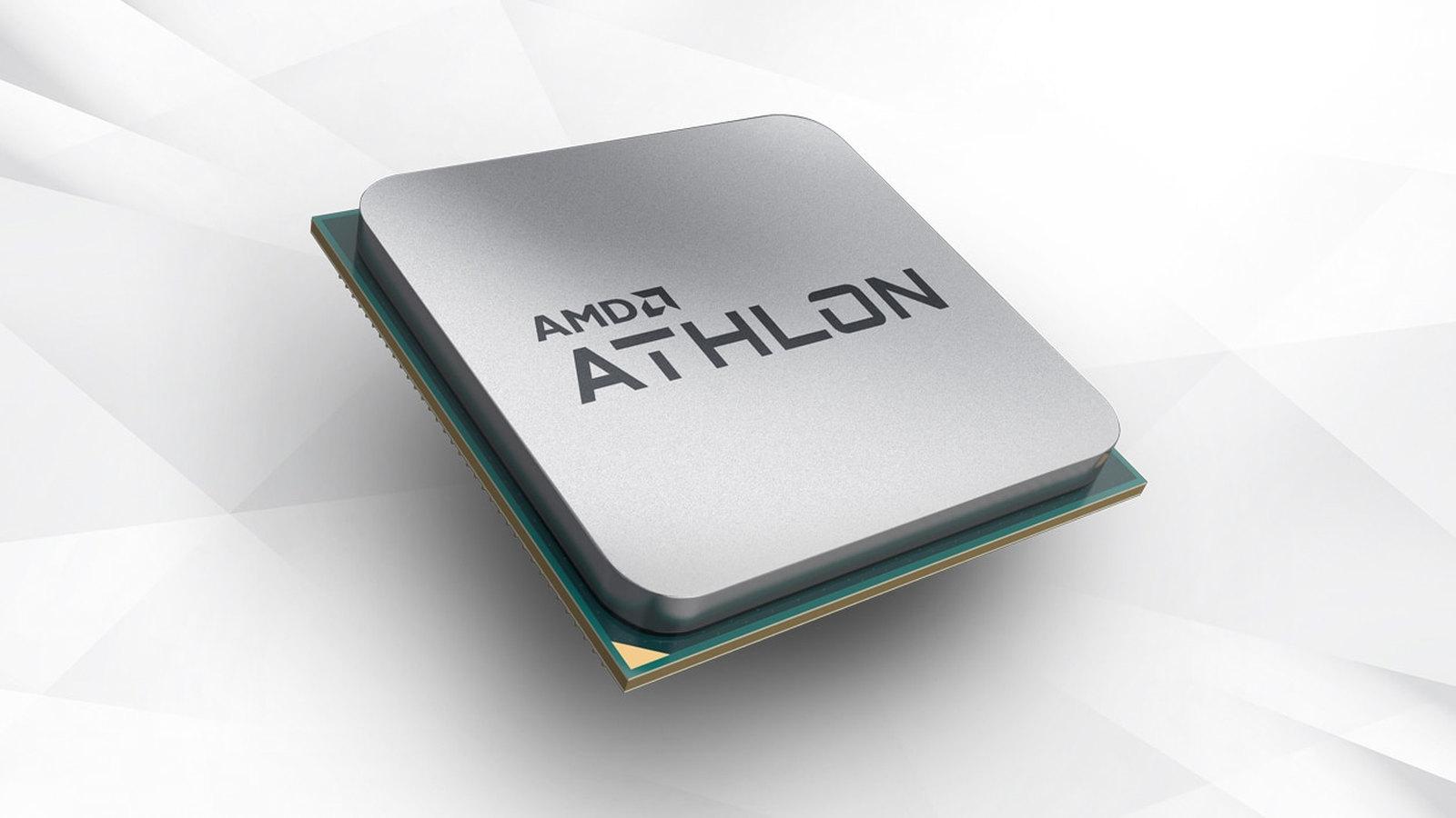 AMD Athlon processor on a white background