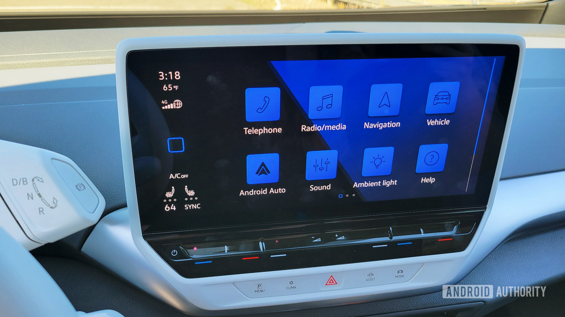 Android Auto in Volkswagen ID.4 App Selection Screen
